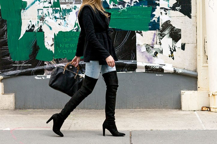 How to keep your thigh high boots from slouching