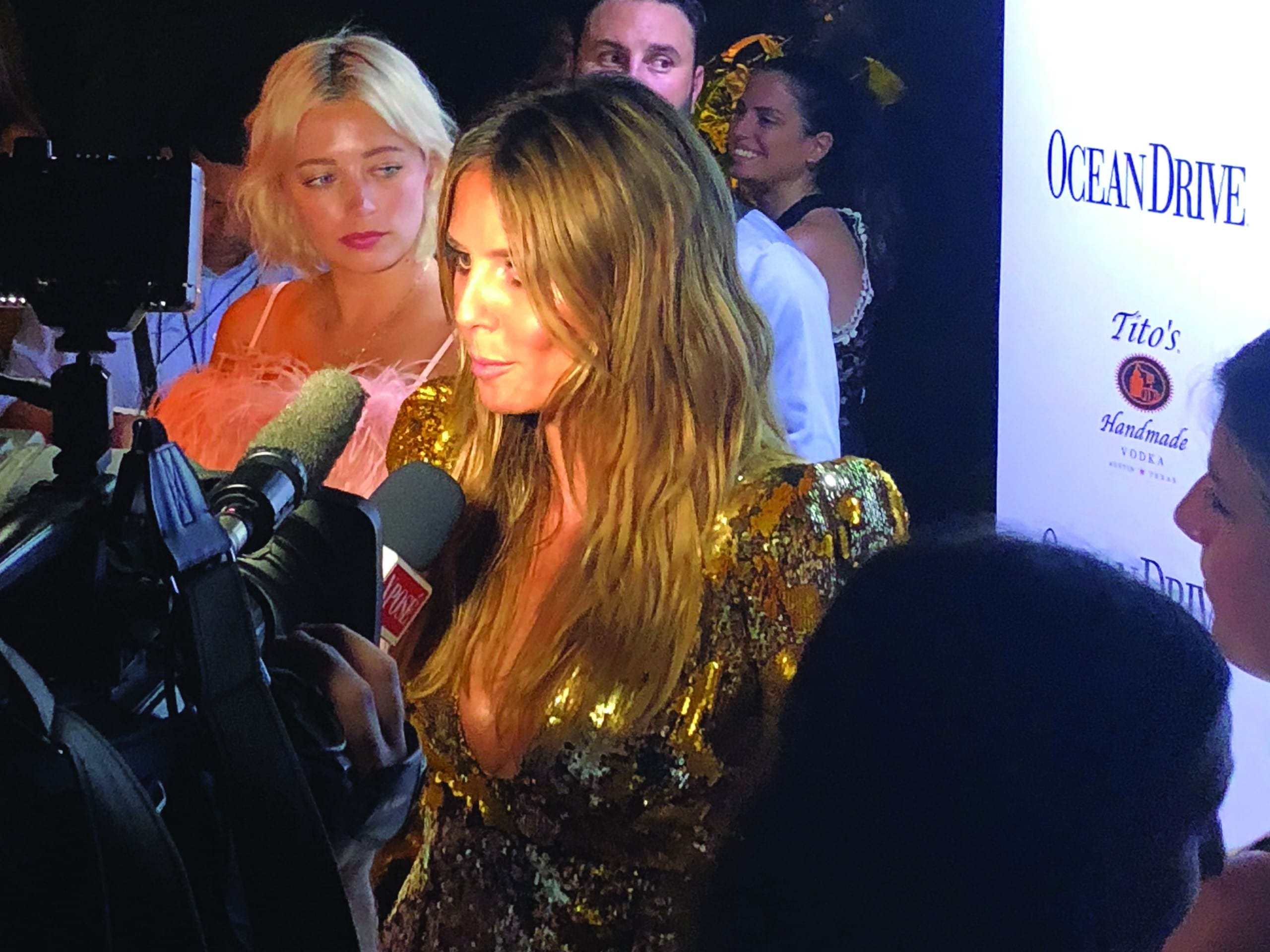 HEIDI KLUM kicks of Miami Swim Week