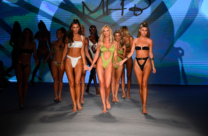 Monica Hansen Sets the Tone for Miami Swim Week.
